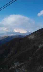 ロープウェーから見た富士山